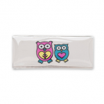 AURA 3 children's bracelet slider owls pink blue turquoise heart